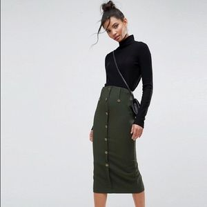 ASOS Tailored Pencil In Military Style